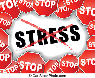 Stop stress - Vector illustration of stop stress concept...