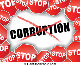 Stop corruption - Vector illustration of stop corruption...