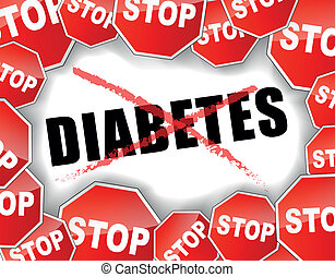 Stop diabetes - Vector illustration of diabetes concept...