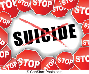 Stop suicide - Vector illustration of stop suicide concept...