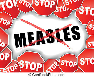 Stop measles - Vector illustration of stop measles concept...