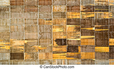 Old vintage wooden background - Old vintage wooden torn...