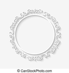 Vector vintage border white frame - Vector vintage circle...