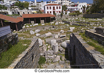 Mausoleum of Halicarnassus - Remains of the Mausoleum of...