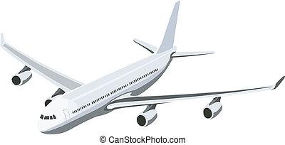 civil air plane - passenger airplane