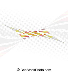 Twisted Lines Layout - An abstract design template with...