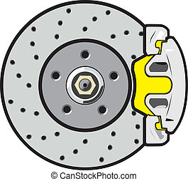 car brake disk with support and brake shoetree