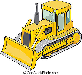 caterpillar bulldozer - yellow caterpillar bulldozer for...
