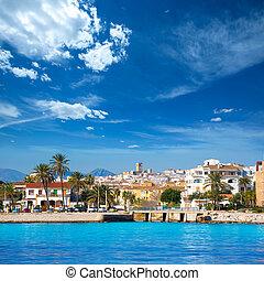 Javea Xabia skyline from Mediterranean sea Spain - Javea...