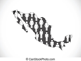 map of Mexico Decorative idea design