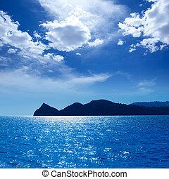 Javea Xabia Cabo San Martin cape in Mediterranean Alicante...