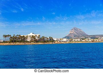 xabia,  Javea, Mediterráneo, contorno, mar, españa