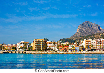 Javea Xabia skyline from Mediterranean sea Spain - Javea...