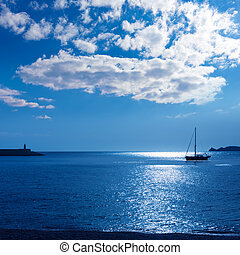 Javea Xabia morning light sailboat in Alicante - Javea Xabia...