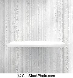 Blank white wooden bookshelf. + EPS10 vector file