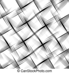 Abstract Basket Weave - Abstract illustration of a basket...