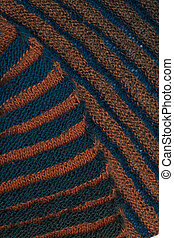 two-sided ribbed knitted scarf background