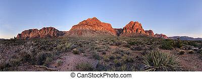 Red Rocks At Sunrise