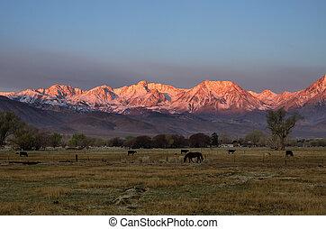 Rural Mountain Sunrise