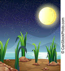 A bright fullmoon - Illustration of a bright fullmoon