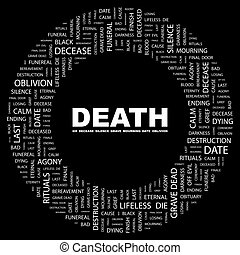 DEATH Concept illustration Graphic tag collection Wordcloud...