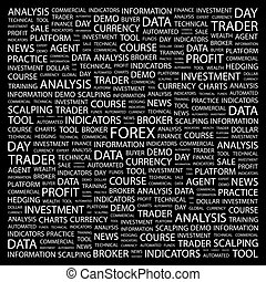 FOREX. Word cloud concept illustration. Wordcloud collage.