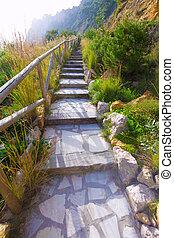 Javea Playa Ambolo beach stairway in Alicante - Javea Playa...