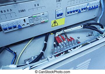 eléctrico, interruptores