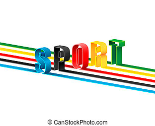 Olympic sport - The letters are painted in national colors...