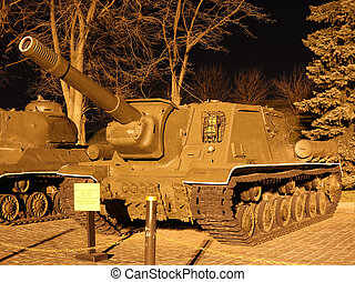 Soviet self-propelled gun ISU-152 - Soviet heavy armored...
