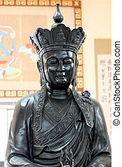 Black deity statues of Chinese religion. - Black deity...
