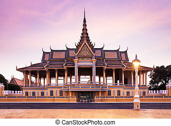This is the royal residence of the king of Cambodia. Silver...