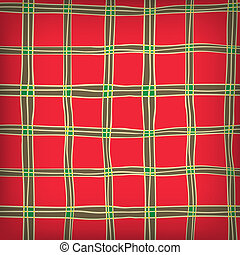 Seamless Abstract Scottish Plaid - Seamless Hand Drawn...
