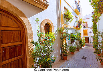 Javea Xabia old town streets in Alicante Spain - Javea Xabia...