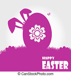 Happy easter cards illustration with easter egg. Vector.