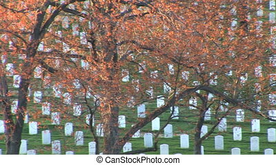 Arlington National Cemetery - Pan of Arlington National...