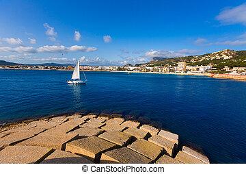 Javea Xabia skyline in Alicante Mediterranean Spain - Javea...