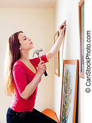 woman hanging  art picture