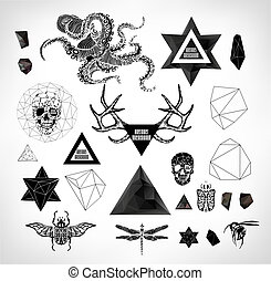 Abstract gothic - Abstract hipster element, drawn by hand...