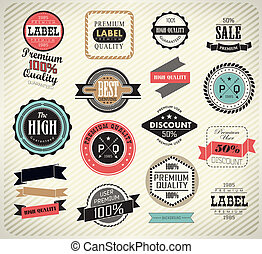 Collection of Premium Quality Labels - Premium Quality,...