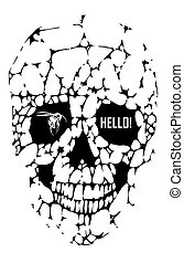 Abstract gothic - Abstract hipster poster, crystal skull...