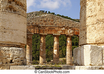 segesta archaeological site of ancient greece drills Sicily...