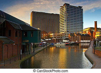 Birmingham - This image of Gas Street Basin was taken...