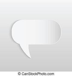 Paper Chat Bubble