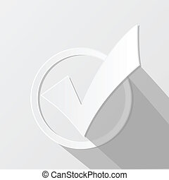 Check Mark Illustration - Illustration of a white check mark...