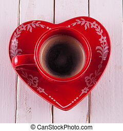 Coffee in red cup