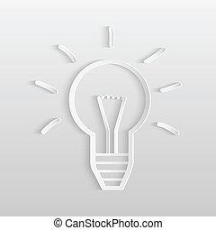 Lightbulb Paper Illustration
