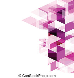 Modern purple geometrical abstract template, vector...
