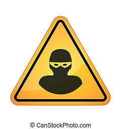 Danger signal - Illustration of an isolated danger signal...