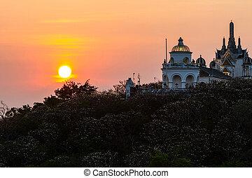 Sunset at Phra Nakhon Khiri. - Sunset at Phra Nakhon...